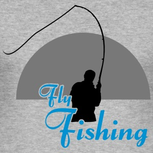 Fly Fishing - Männer Slim Fit T-Shirt