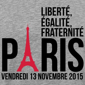 Paris freedom equality fraternity T-Shirts - Men's Premium T-Shirt