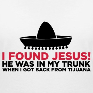 I found Jesus! T-Shirts - Women's V-Neck T-Shirt