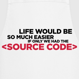 Life has a source code!  Aprons - Cooking Apron