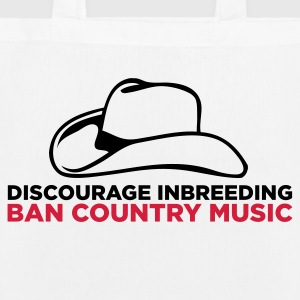 Please stopt incest! Prohibits Country Music! Bags & Backpacks - EarthPositive Tote Bag