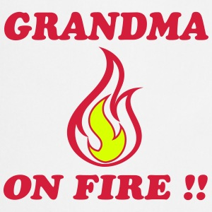 Grandma on fire !!  Aprons - Cooking Apron