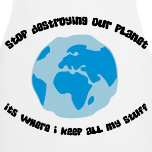 Cease to destroy our planet!  Aprons - Cooking Apron