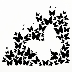 A silhouette of butterflies Mugs & Drinkware - Coasters (set of 4)