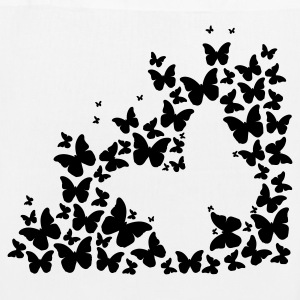 A silhouette of butterflies Bags & Backpacks - EarthPositive Tote Bag