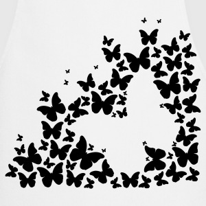 A silhouette of butterflies  Aprons - Cooking Apron