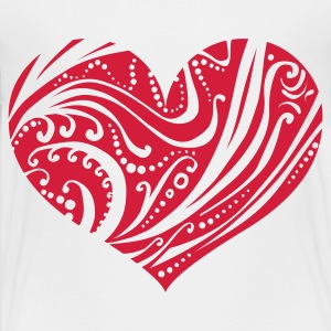 Heart of ornaments Shirts - Teenage Premium T-Shirt