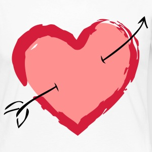 Heart with arrow Long Sleeve Shirts - Women's Premium Longsleeve Shirt