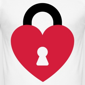 Heart padlock T-Shirts - Men's Slim Fit T-Shirt