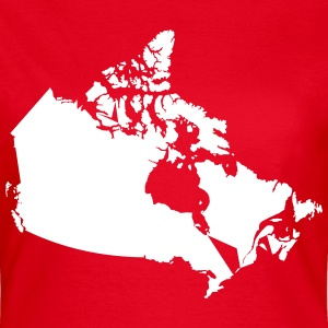 Kanada, Canada Map T-Shirts - Frauen T-Shirt