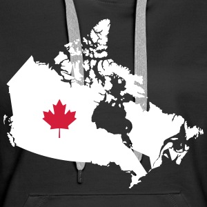 Kanada, Canada Map Sweat-shirts - Sweat-shirt à capuche Premium pour femmes