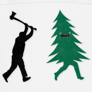 Funny Christmas Tree Hunted by lumberjack Humor Kookschorten - Keukenschort
