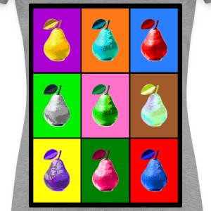 Pop Art Birne, Pop Art Pear T-shirts - Vrouwen Premium T-shirt