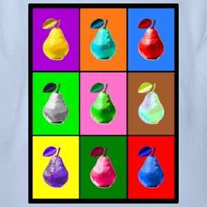Pop Art Birne, Pop Art Pear Babybody - Ekologisk kortärmad babybody