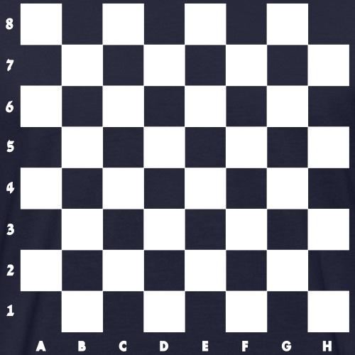 Schachbrett / weiße Felder