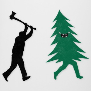 Funny Christmas Tree Hunted by lumberjack Humor Tazze & Accessori - Boccale per birra