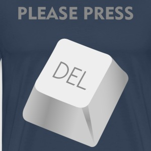 Please press DELATE T-shirts - Herre premium T-shirt