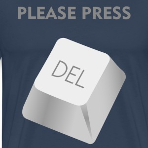 Please press DELATE T-shirts - Premium-T-shirt herr