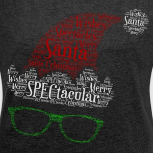 SPECtacular Santa with SPECS patjila T-Shirts - Women's T-shirt with rolled up sleeves