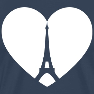 Eiffel Tower Heart T-Shirts - Men's Premium T-Shirt
