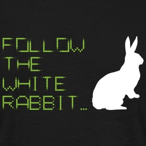 Follow The White Rabbit T-Shirts - Men's T-Shirt
