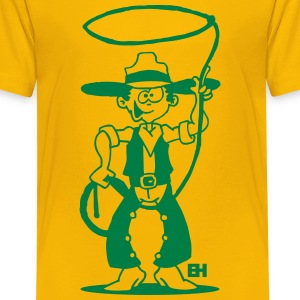 Cowboy with a lasso Shirts - Teenage Premium T-Shirt