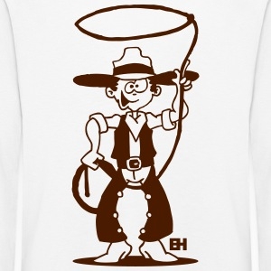 Cowboy with a lasso Long Sleeve Shirts - Kids' Premium Longsleeve Shirt