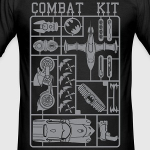 Batman Combat Kit T-Shirt - Männer Slim Fit T-Shirt