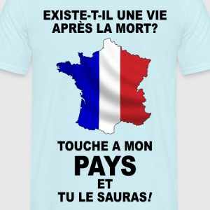 France carte tricolore 2 Tee shirts - T-shirt Homme