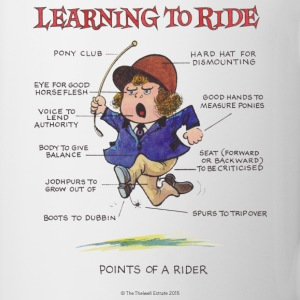 Thelwell Pony Learnig to ride - Mok