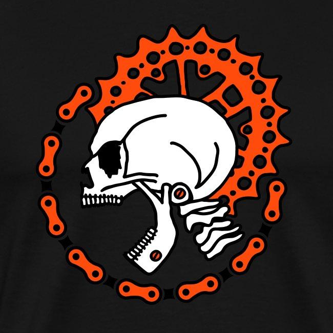 Skull Bike Punk - 3-farbig