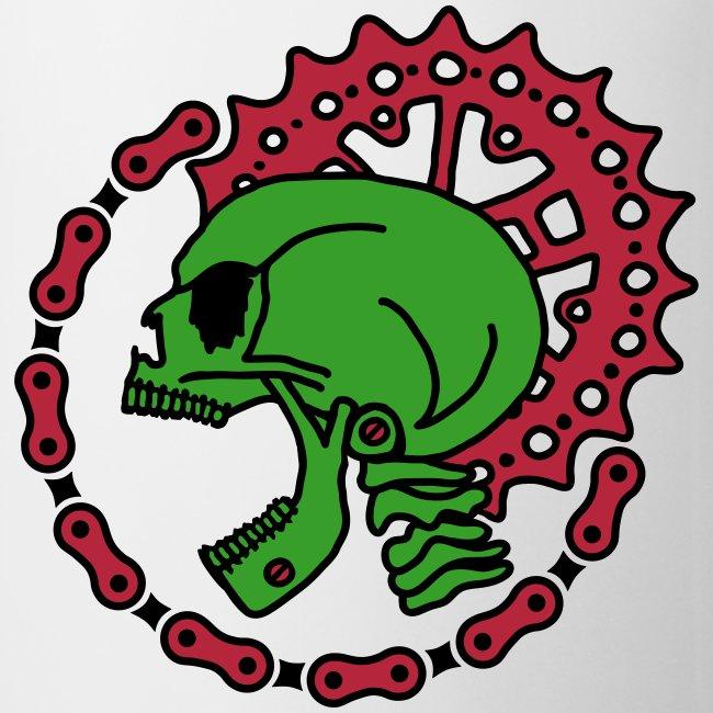 Skull Bike Punk Tasse - 3-farbig