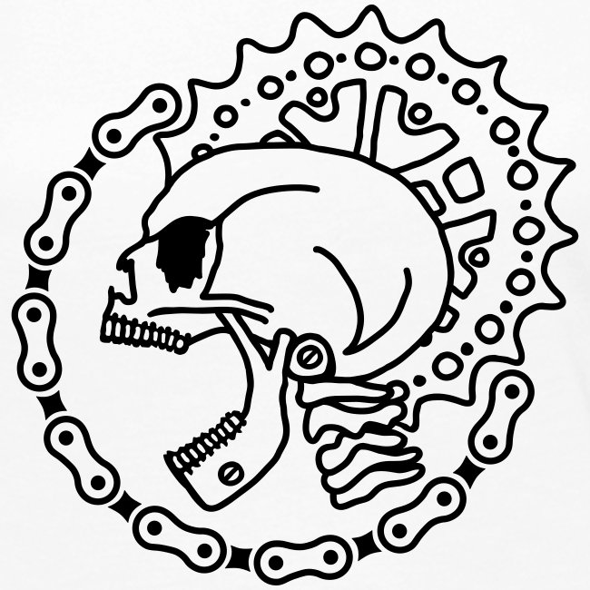 Skull Bike Punk - 1-farbig