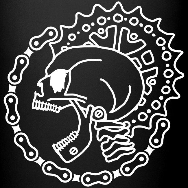 Skull Bike Punk Tasse - 1-farbig