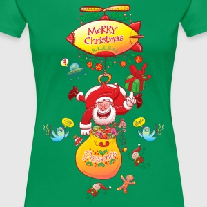 Santa has a Zeppelin to Deliver Xmas Gifts T-Shirt - Women's Premium T-Shirt