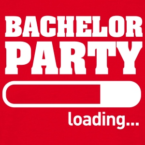 Bachelor Party Loading - Mannen T-shirt