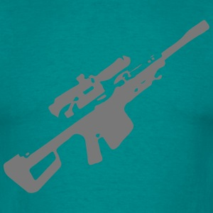 Gun shooting shot sniper Barrett quickly T-Shirts - Men's T-Shirt