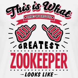 zookeeper worlds greatest looks like - Men's T-Shirt