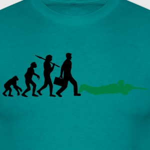 evolutie shoot man sniper sniper gamer camper T-shirts - Mannen T-shirt