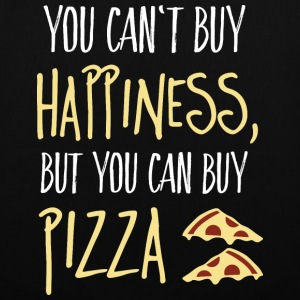 Cant buy happiness, but pizza Taschen & Rucksäcke - Stoffbeutel