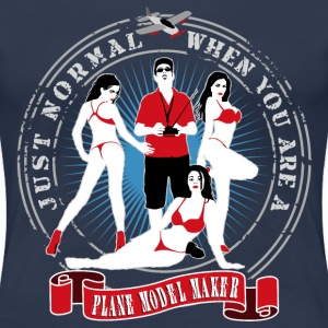 just_normal_when_you_are_a_plane_modelma T-Shirts - Frauen Premium T-Shirt