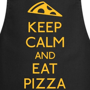 Keep Calm Pizza mantener calma pizza Delantales - Delantal de cocina