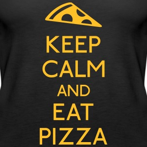 Keep Calm Pizza holde roen pizza Toppe - Dame Premium tanktop
