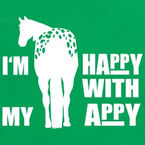 Happy with my Appaloosa T-shirts - Kontrast-T-shirt dam