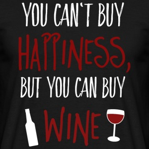 Cant buy happiness, but wine cant köpa lycka, men vin T-shirts - T-shirt herr