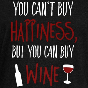 Cant buy happiness, but wine Sweat-shirts - Pull Femme col bateau de Bella