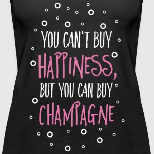 Cant buy happiness, but champagne Tops - Women's Premium Tank Top