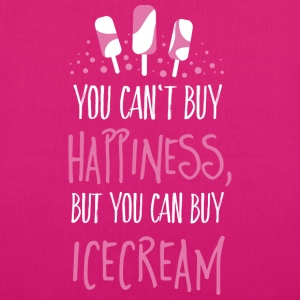 Cant buy happiness, but ice cream Tassen & rugzakken - Bio stoffen tas