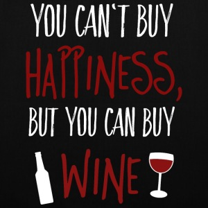 Cant buy happiness, but wine Tassen & rugzakken - Tas van stof