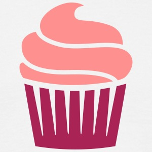 cupcake two-colored T-shirts - Mannen T-shirt